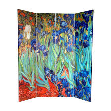 shop oriental furniture irises starry night over rhone 4 panel