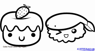 Cute Food Coloring Pages Az Coloring Pages For Cute Food Coloring Food Color Pages