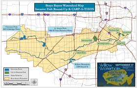 bayou map 2nd annual brays bayou invasive fish up and carp a thon