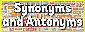 synonyms worksheet teaching ideas