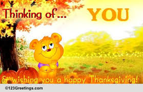 thinking of you on thanksgiving free miss you ecards greeting