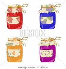 set hand drawn jam jars sweet jam vector u0026 photo bigstock