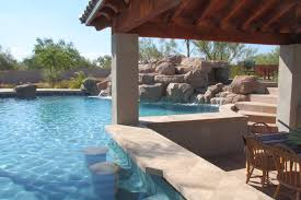swim up bars in your own backyard phoenix landscaping design