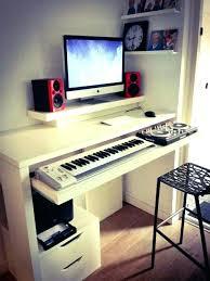 white studio desk strange pumpkin studio music production