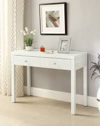 White Hallway Table White Glass Mirrored Console Hallway Dressing Table 2 Drawer