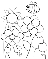 spring coloring pages print children butterfly picnic bee