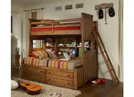 Legacy Classic Kids Timber Lodge Twin Over Twin Bookcase Bunk Bed - Timber bunk bed