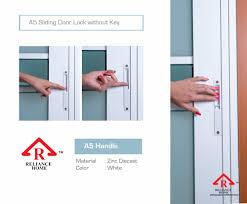 Patio Door Lock by Sliding Door Lock Set Reliance Homereliance Home