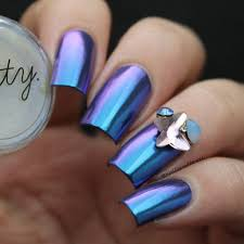 tips and tricks when using chrome and holographic holo nail art