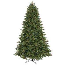 shop ge 7 5 ft pre lit aspen fir artificial tree