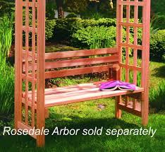 amazon com arboria 42 inch arbor bench w back outdoor benches