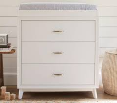 White Change Table Reese Dresser Change Table Topper Simply White Pottery Barn