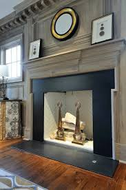 Black Paint For Fireplace Interior Gray Washed Millwork Black Stone Fireplace Surround Beautiful
