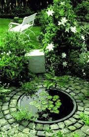 pond with sloping access for creatures yet structured to look good