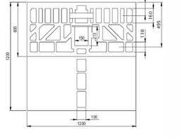 canap de sol receveur de rectangulaire en céramique avec canal d