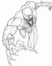 printable venom coloring pages coloring