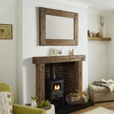 Fireplace Fixings Oak Fire Surround Reclaimed Oak Solid French Rustic Beam