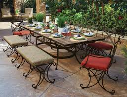 wrought iron outdoor dining table beautiful hand crafted wrought iron patio dining set for 10 people
