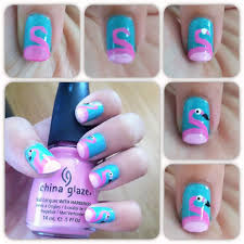 flamingo nails click here to see how to get these nails