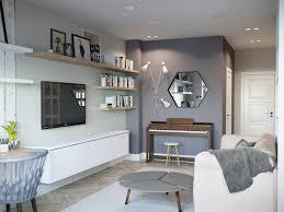 cuisine mur et gris deco salon mur blanc cuisine bois clair 6 touches de dans un