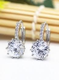 big diamond earrings 6 00 carat big diamond earrings 18kt white gold hoop earrings