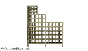 Wood Trellis Plans by Corner Trellis Plans Myoutdoorplans Free Woodworking Plans And