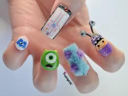 monsters inc 3d nail art nail idea nail design funky nail art