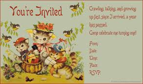 Baby 1st Birthday Invitation Card Vintage Birthday Invitations Plumegiant Com