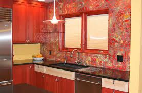 red glass tile backsplash tags red backsplash kitchen backsplash