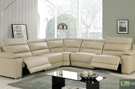 living room leather sectional recliner couch with recliners