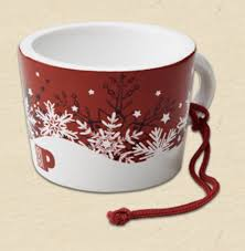 mug ornament peet s coffee ornaments 2015 coffee house collectibles