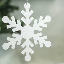 white iridescent glitter snowflake ornament ornaments