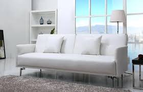 Leather Sofa Beds Uk Sale Precious White Leather Sofa Beds For House Design Gradfly Co