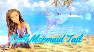 diy how to make doll mermaid tail handmade doll crafts