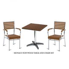 monaco outdoor bistro table u0026 chair sets teak effect