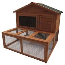 fur u0027life rabbit hutch run wooden medium the warehouse