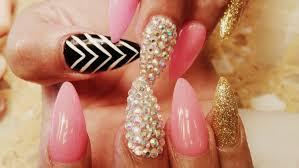 elegant stiletto acrylic nails gel color design tutorial youtube