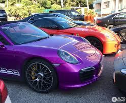 porsche purple porsche 991 turbo s cabriolet 21 april 2017 autogespot