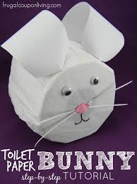 Easter Decorations Step By Step by Step By Step Toilet Paper Bunny Tutorial Easter Craft