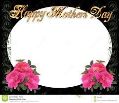 mothers day border frame on black royalty free stock photo image