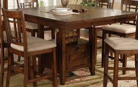 High End Dining Room Furniture Dining Room Stunning Tall Square Dining Table Stunning High