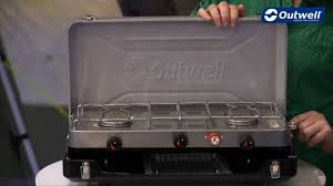 Toaster Burner Outwell Chef Cooker Deluxe 3 Burner Stove And Toaster Youtube