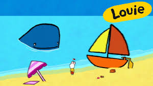 louie draw me a whale learn to draw cartoon for kids youtube