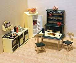 Kitchen Dollhouse Furniture Melissa U0026 Doug Classic Wooden Doll U0027s House Kitchen Furniture 7
