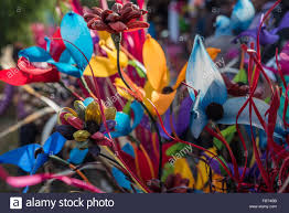Flowers For Sale Vibrant And Garish Artificial Flowers For Sale At The Hornbill