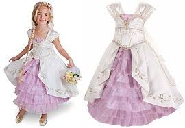 wedding dress costume disney store limited edition princess rapunzel wedding gown