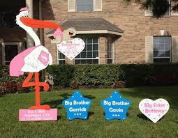 bridal shower signing plate stork yard signs flamingos 2 go