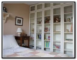 Ikea White Bookcase With Glass Doors Ikea Billy Bookcase Glass Doors Home Design Ideas Diy
