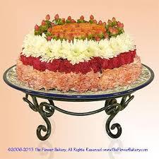 birthday flower cake large cakes send unique flower arrangements birthday flower cake
