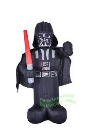Inflatable Halloween Costume Air Blown 6 U0027 Star Wars Darth Vader Holding Light Saber